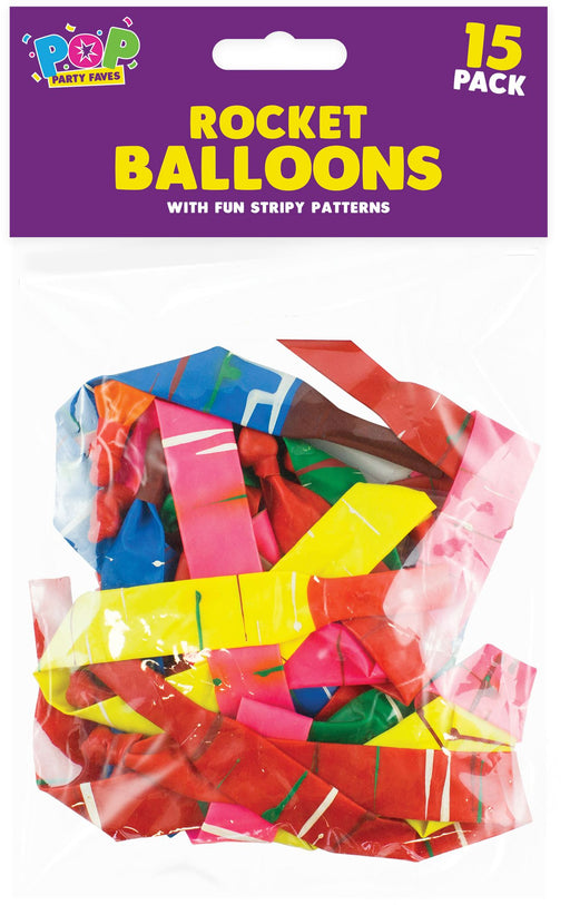 Rocket Balloons - 15 Pack