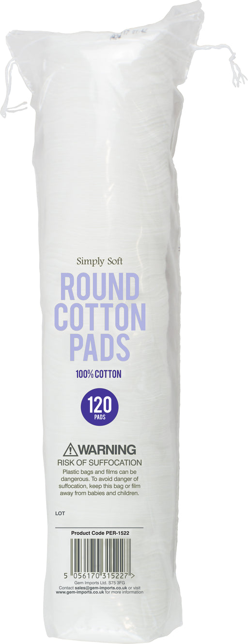 Pure Round Cotton Pads - 120pc