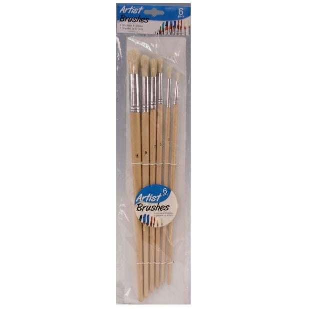 DISC Premium Round Paint Brushes - 6pc