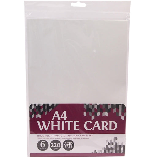 Thick White Card - 6 Sheets