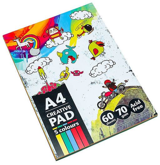 DISC A4 Multi Coloured Pad - 60 Sheet Book