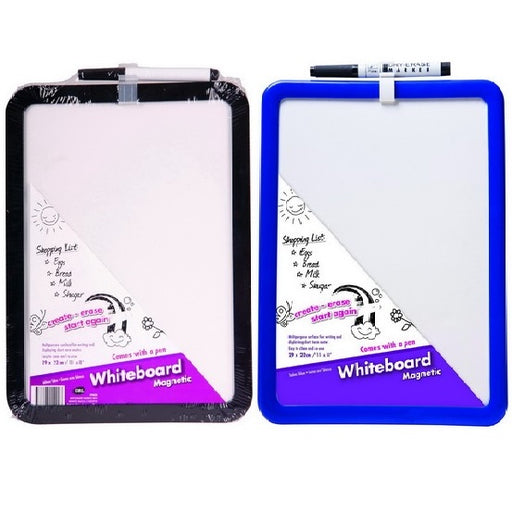 Magnetic Back Dry Wipe Whiteboard - Dry Wipe Pen Included