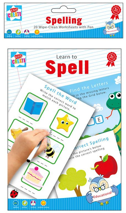 Reusable Spelling Activities Book  - 22pc