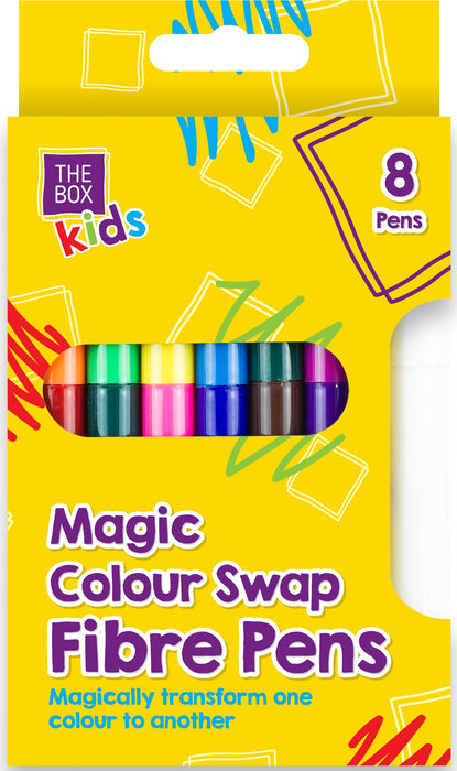 Magic Colour Swap Fibre Pens 8 x Pens