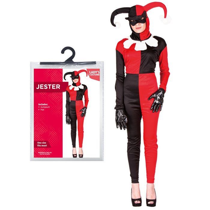 Ladies Jester Outfit - One Size Fits Most