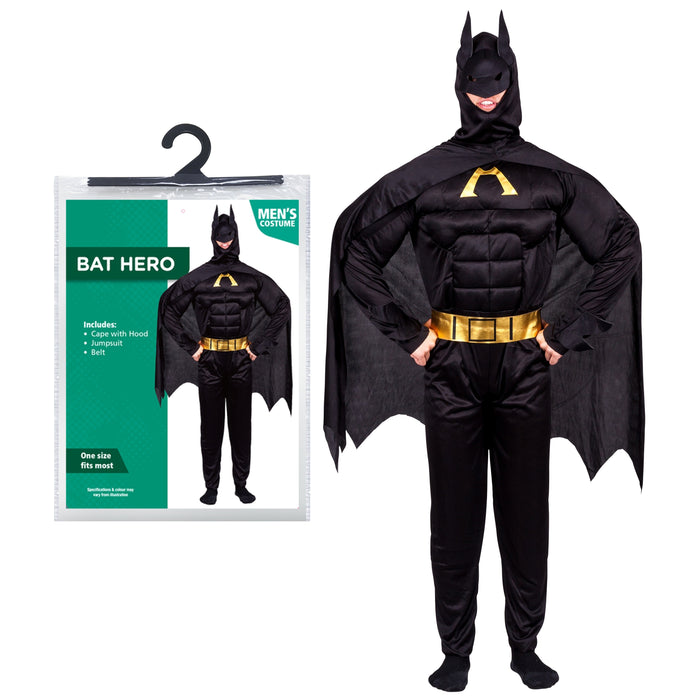 Bat Hero Costume - One Size Fits Most