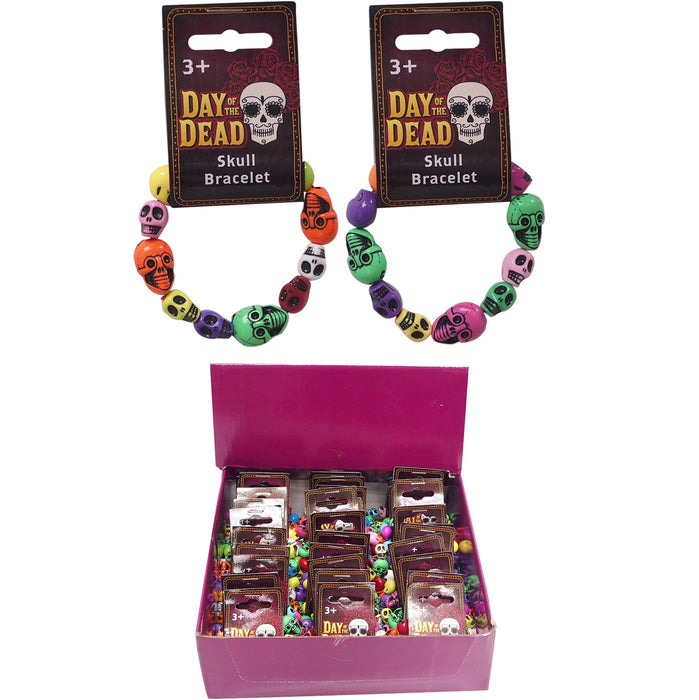 Day Of The Dead Skull Bracelet - Child Size