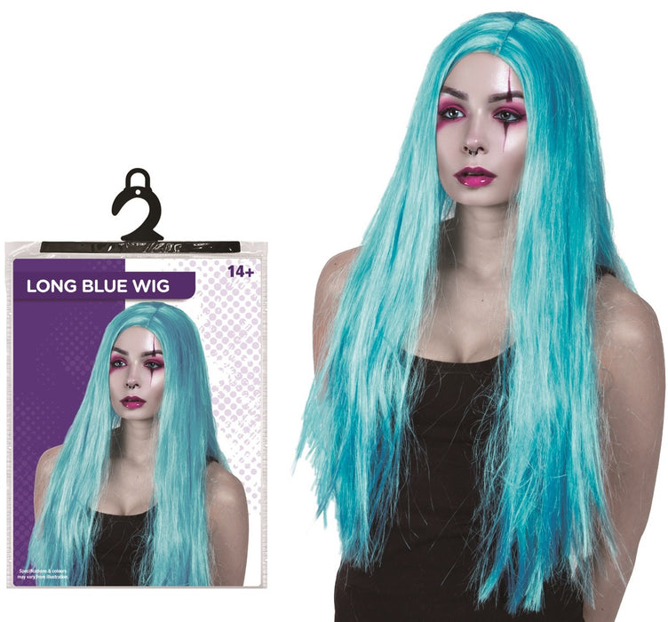 Long Blue Wig - One Size