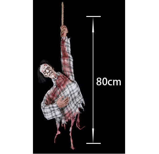Animated Hanging Zombie - 80cm