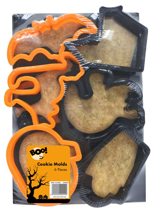 Halloween Cookie Moulds - 6pc