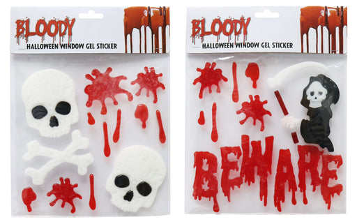 Assorted Bloody Window Stickers - 2 Designs