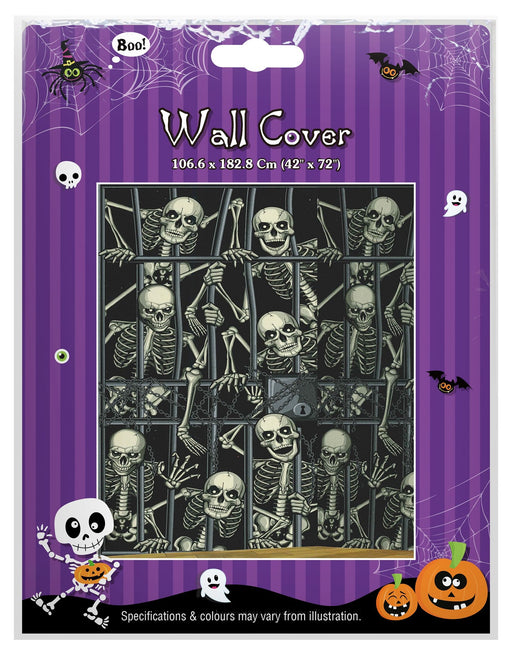 "Skeleton Wall Cover - 42"" x 72"""