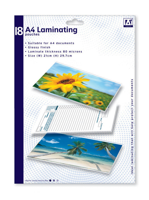 A4 Laminating Pouches  - Pack of 18