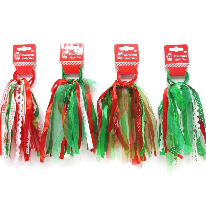 Christmas Hair Ties - 1 Pair