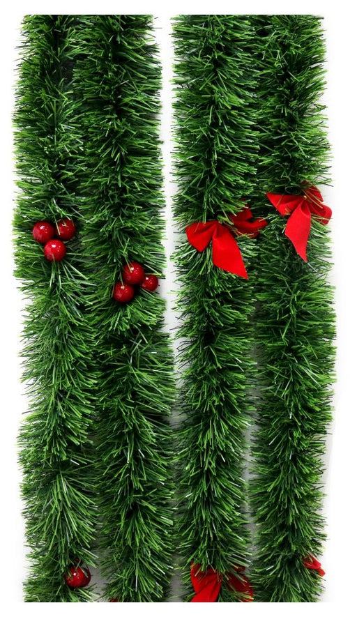 Green Fine Cut Tinsel - 2m