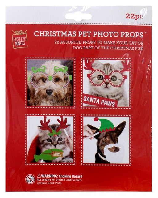 Christmas Pet Photo Props - 22 Pack