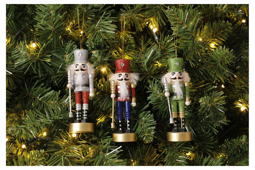 Hanging Nutcracker Ornament - 12.5cm