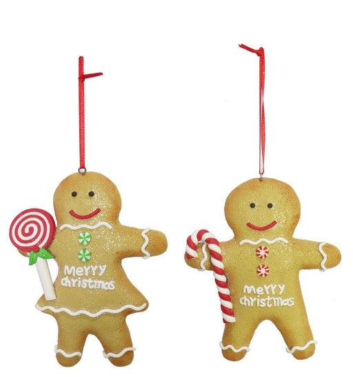 Assorted Hanging Gingerbread Man - 12cm