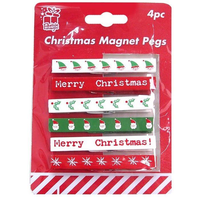 Christmas Magnet Pegs - 4pc