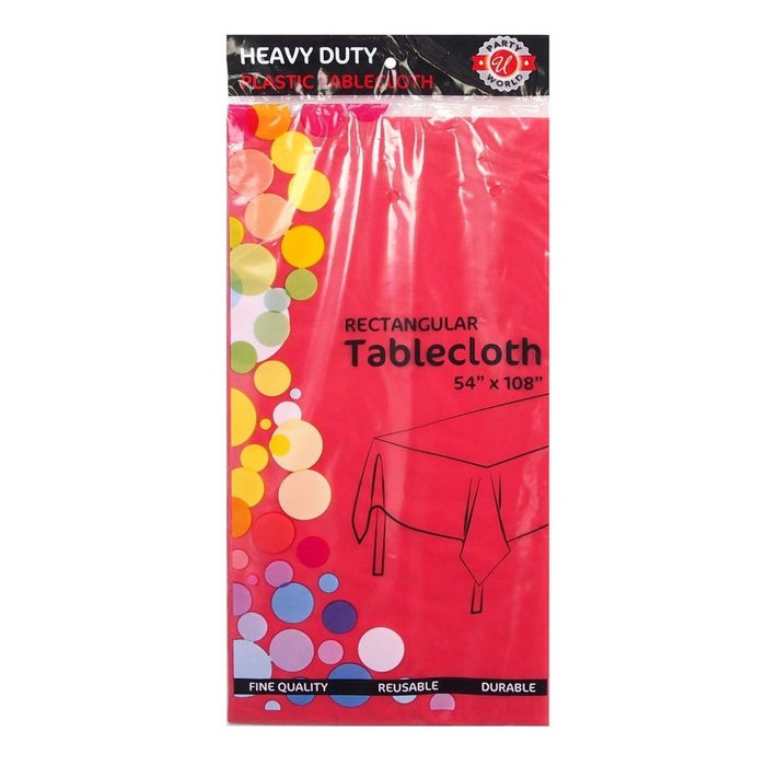 "Plastic Table Cloth - 54"" x 90"" Inch"