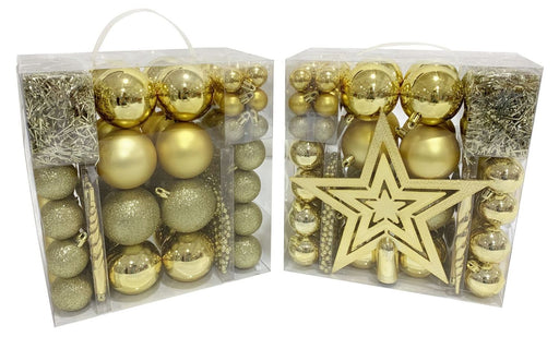 Gold Christmas Decoration Pack - 83pc
