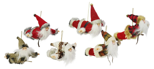Hanging Flying Santa Figurine - 16cm