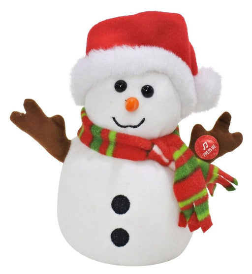 Plush Snowman Voice Recorder And Repeater - 16cm