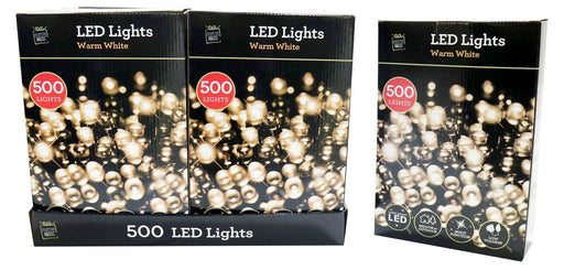 LED String Fairy Lights - 500 Warm White Bulbs