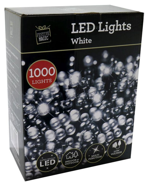 LED String Fairy Lights - 1000 White Bulbs