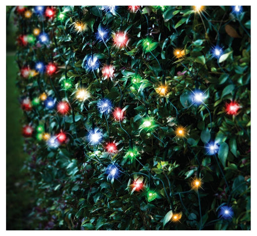 LED Net String Fairy Lights - 320 Multi Coloured Bulbs
