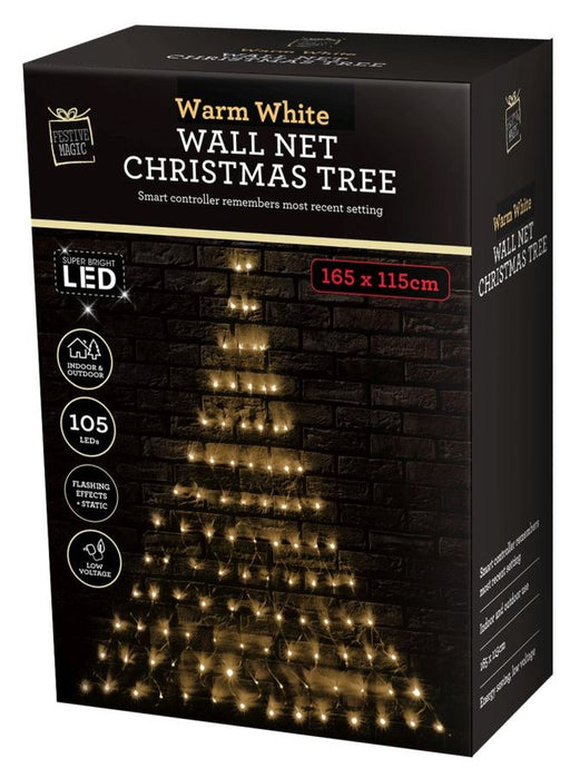LED Christmas Tree Wall Net - Warm White