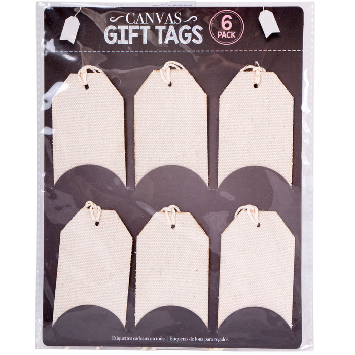 Canvas Gift Tags - 6pc