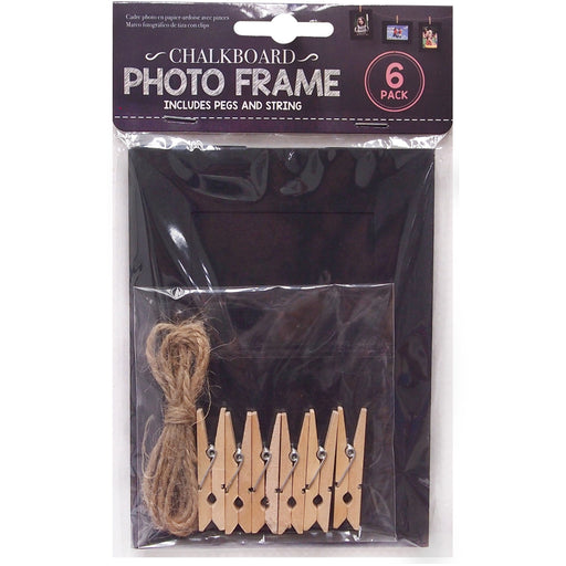 DISC Chalkboard Photo Frames - 6pc