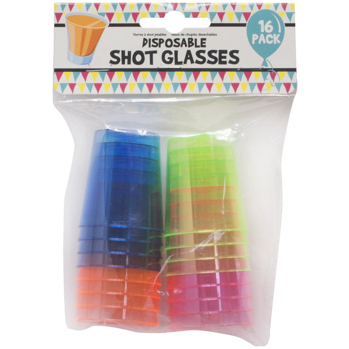 Disposable Shot Glasses - 16pc