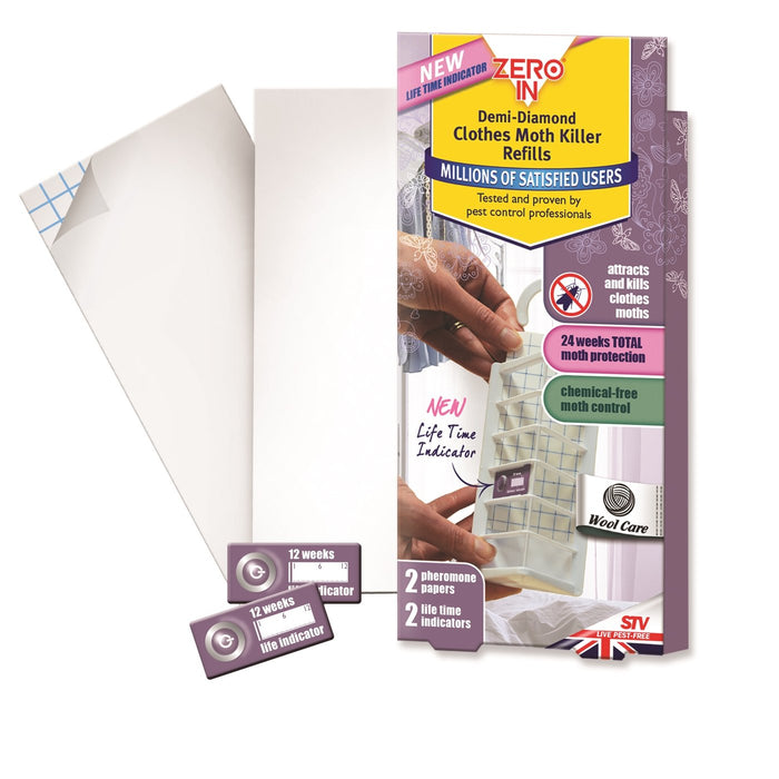 Demi-Diamond Clothes Moth Trap Refills - Pack of 2