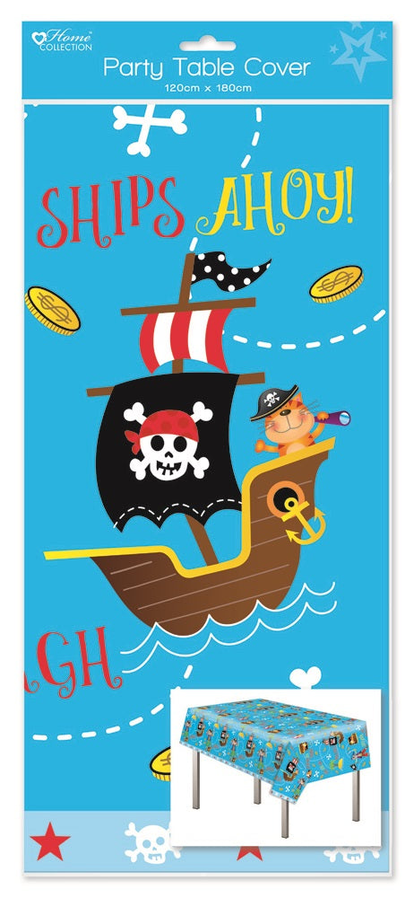 Pirate Plastic Party Tablecover - 120cm x 180cm