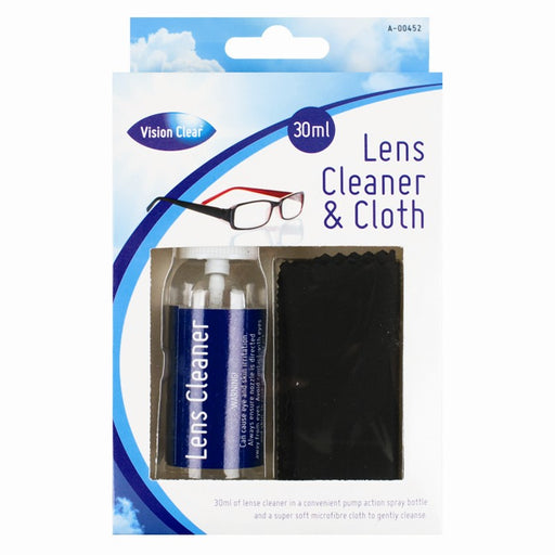 Glasses Lens Cleaner With Cloth - 30ml Bottle