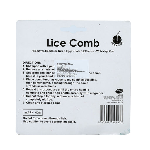 Nit Lice Comb  - 2pc