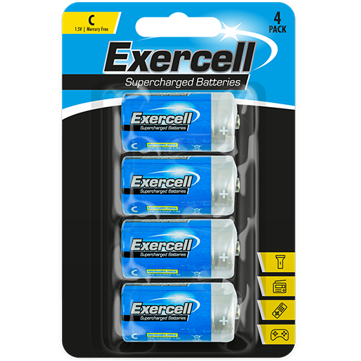 Powercell C Batteries - Pack of 4