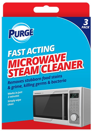 Purge Microwave Steam Cleaner - 3 Sachets