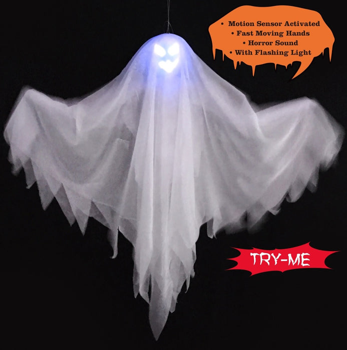 Animated Jumpy Ghost - 45cm
