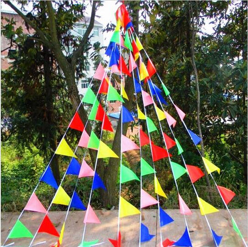 Multi Coloured Bunting - 20pc Set