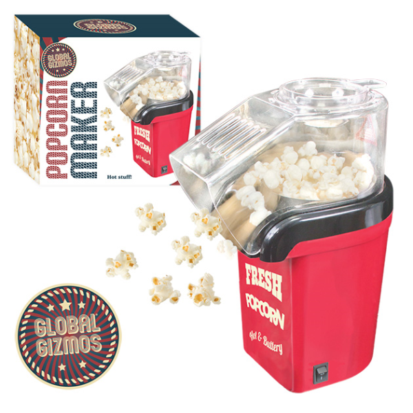 Red Electric Hot Air Popcorn Maker