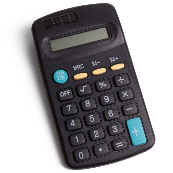 Mini Pocket Calculator - 8 Digit Display
