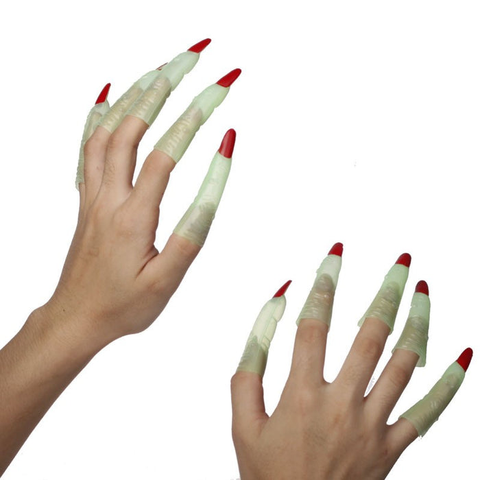 Glow In Dark Witch Fingers - 10pc