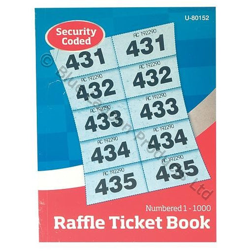 1,000 Ticket Raffle Cloakroom Book