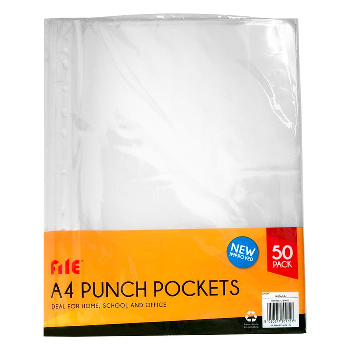 Premium A4 Punch Document Wallets Pack of 50