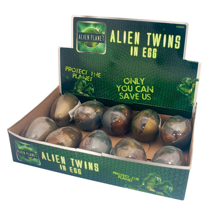 Alien Twins In An Egg 2 x Aliens In One Pod