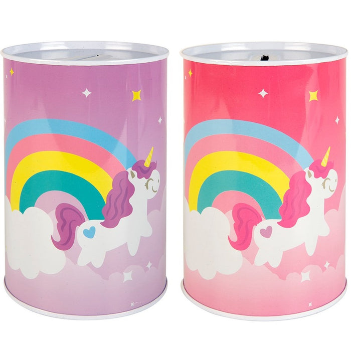 Unicorn Money Tin Novelty Design