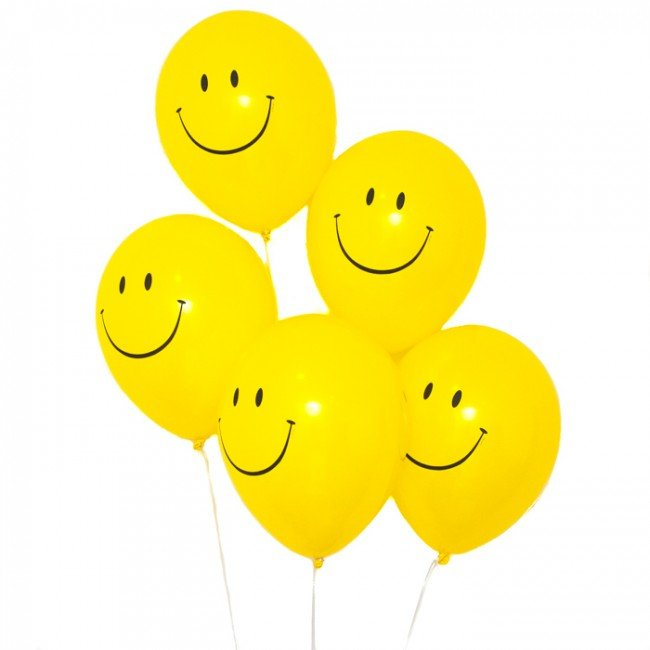 Smiley Face Balloons - 18pc